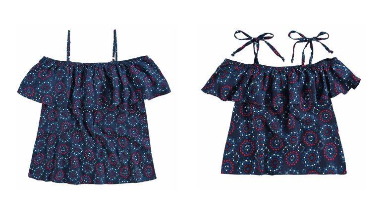 Blusa Malwee Mãe e Filha | Na coleção cápsula em comemoração ao Dia das Mães, a marca apresenta modelos de blusa e vestidos iguais para mãe e filha, além de oferecer uma opção de blusa para mãe e filho e um body de bebê | Da Malwee, R$ 89,90 (p/ filha) e R$129,90 (p/ mãe) (Foto: Divulgação)