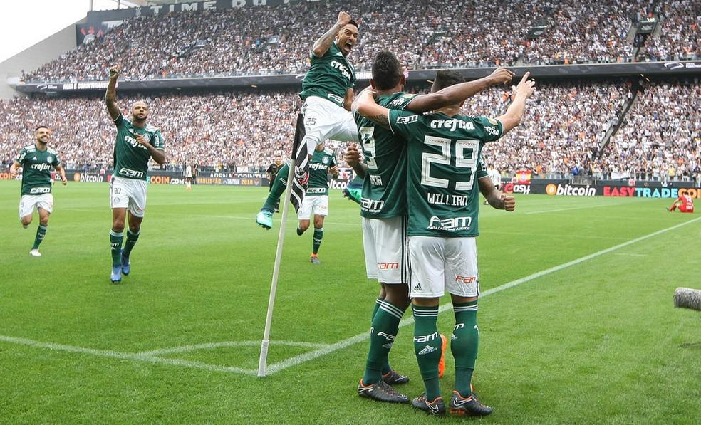 Corinthians x Palmeiras gol Borja — Foto: Cesar Greco / Ag. Palmeiras