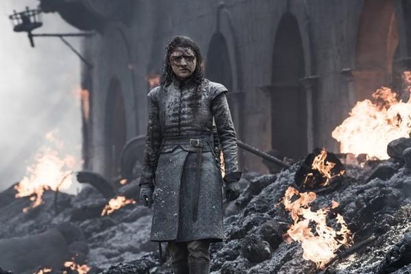 Arya Stark em cena de um dos últimos episódios da oitava temporada de Game of Thrones (Foto: Reprodução)