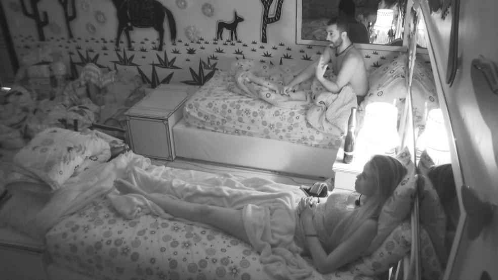 Sarah diz que acredita que Projota seja o próximo brother a deixar o BBB21 — Foto: Globo