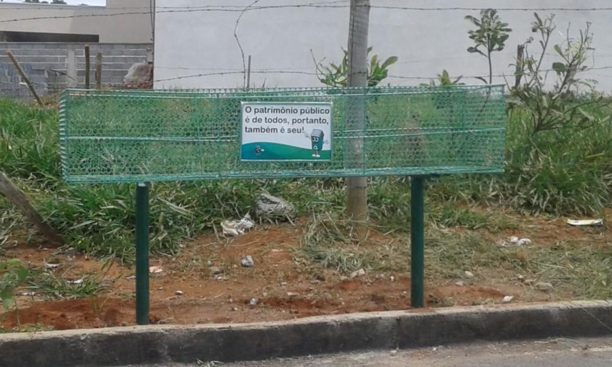 Mais de 25 lixeiras são instaladas em Córrego Fundo
