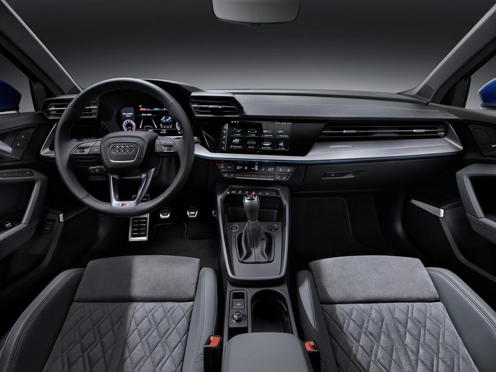 Interior do Audi A3 — Foto: Divulgação