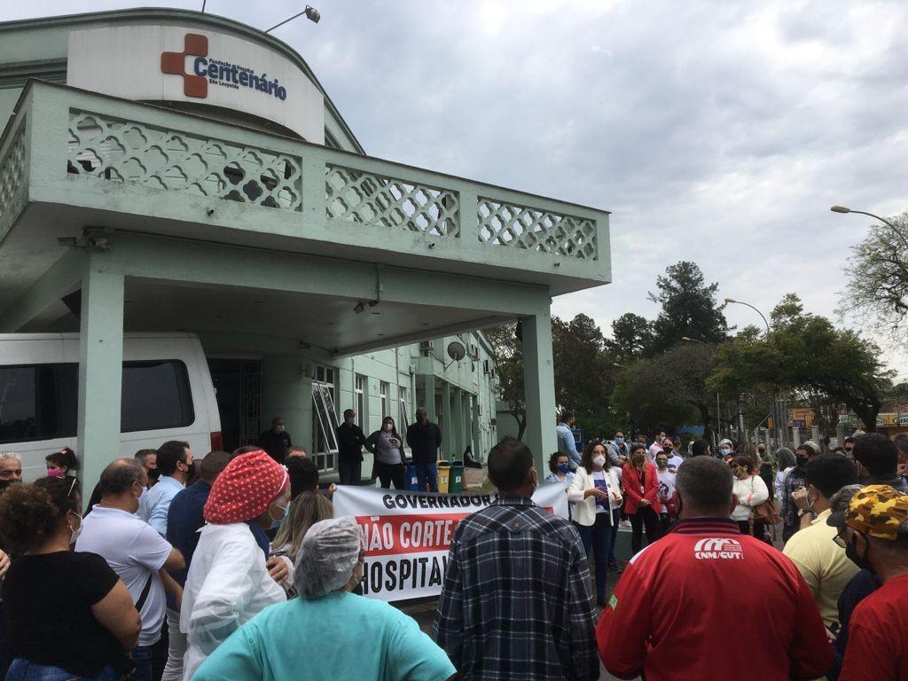 Hospitais protestam contra programa do governo do RS que pretende redistribuir recursos