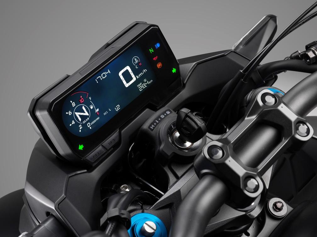 Honda CB 500F ganhou novo painel — Foto: Honda/Divulgação