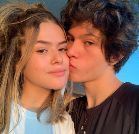 Maisa com o namorado, Nicholas (Foto: Reprodução)