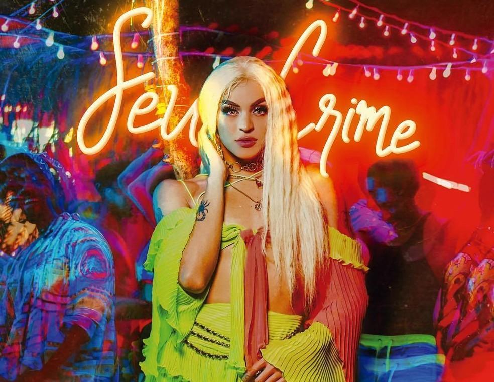 Pabllo Vittar na capa do single 'Seu crime' — Foto: Divulgação