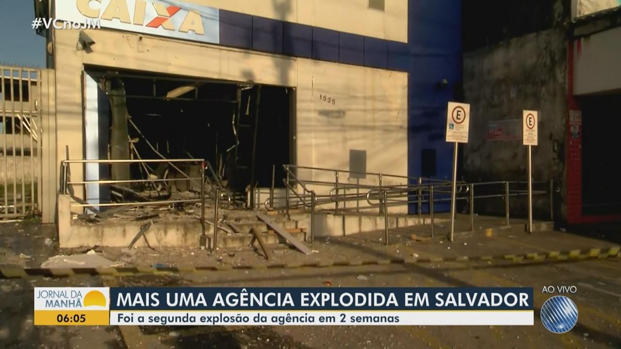 Agência bancária é explodida no bairro de Castelo Branco, em Salvador