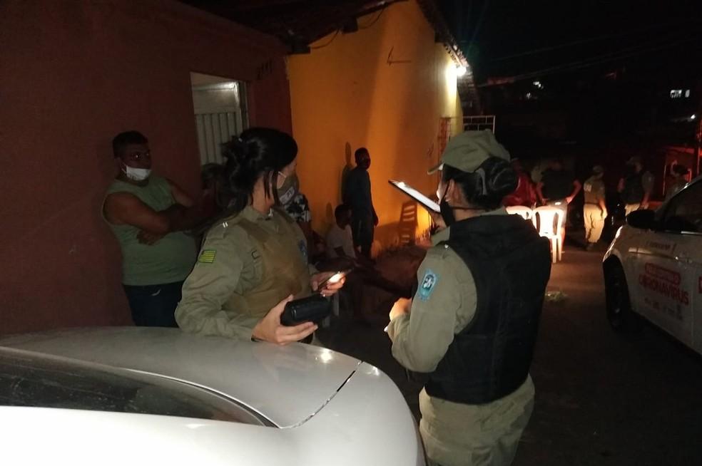 Polícia Militar fiscaliza cumprimento do isolamento social em Teresina — Foto: Divulgação/PM-PI