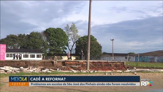 Escolas estaduais de São José dos Pinhais estão há meses com os muros caídos