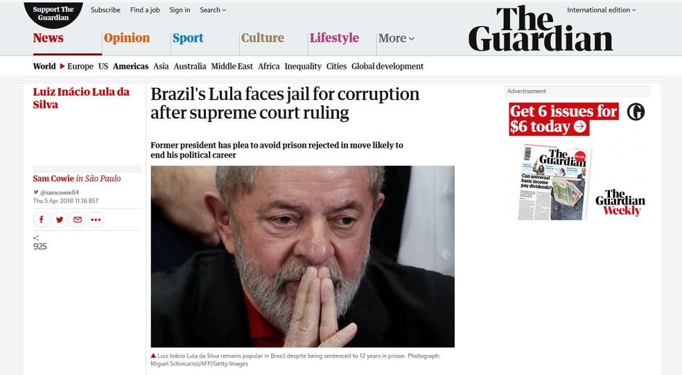 The Guardian (Foto: Reprodução/ G1)
