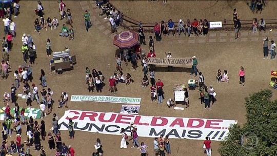 Manifestantes protestam pelo terceiro dia seguido em defesa da Amazônia