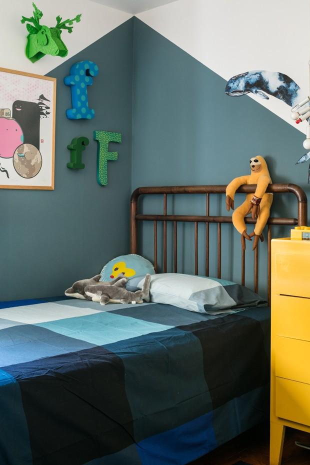 Décor do dia: quarto de menino com parede bicolor (Foto: Gui Gomes)