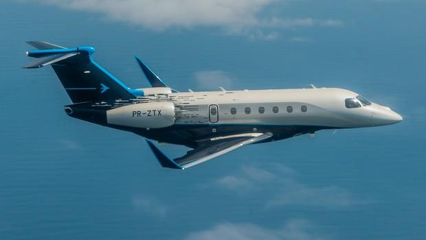 A aeronave Praetor 600, da Embraer (Foto: Divugação)