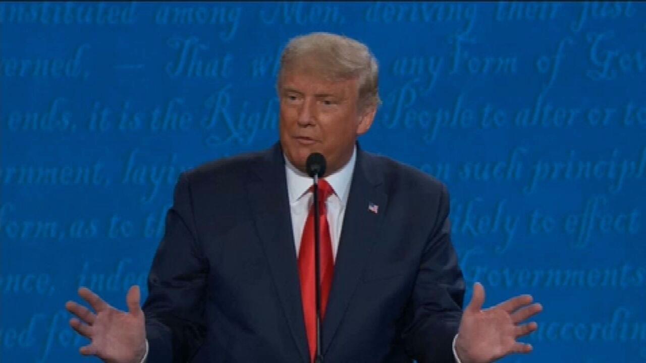 'Ninguém fez mais para a comunidade negra do que Donald Trump', disse o presidente