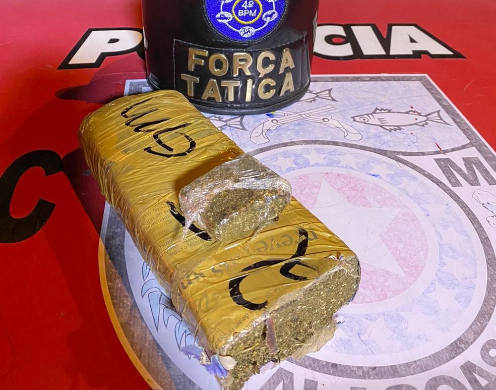 Droga apreendida foi levada para a Central de Flagrantes em Maceió — Foto: Divulgação/PM