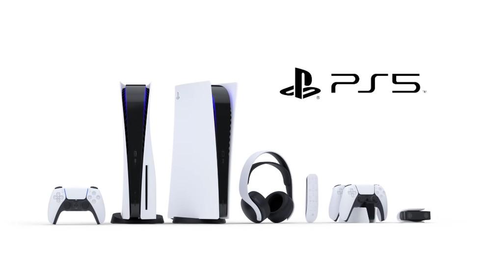 Sony divulgou a aparência do PS5 e todos os acessórios — Foto: Reprodução/Sony