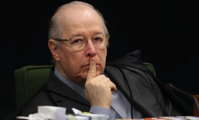 O ministro Celso de Mello em sessão da Segunda Turma do STF