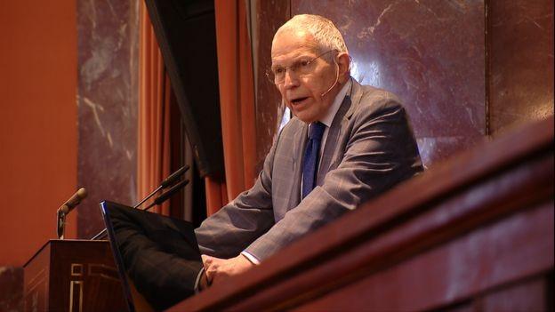 Edmund Phelps está na casa dos oitenta e não pensa em acalmar a agenda (Foto: via BBC News )