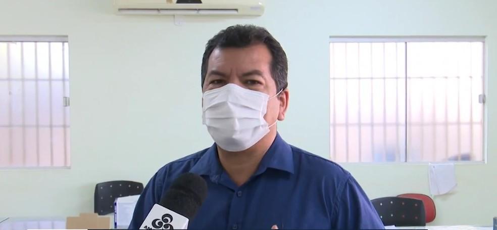 Secretário Frank Lima falou que quantitativo repassado é suficiente para vacinar pessoas de 50 a 59 anos — Foto: Reprodução/Rede Amazônica Acre