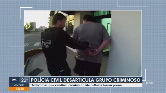 Operação cumpre prisões contra organização criminosa suspeita de distribuir drogas no Oeste de SC
