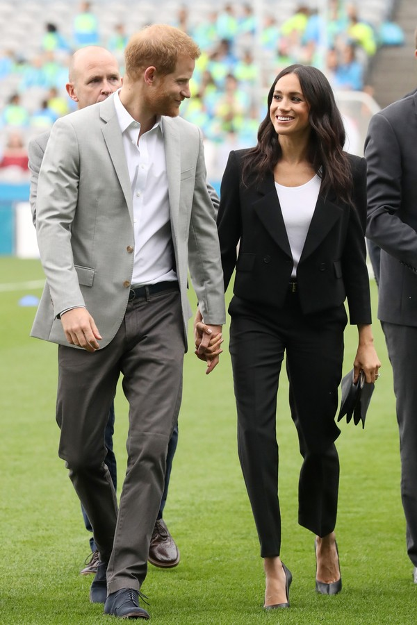 DUBLIN, IRELAND - JULY 11:  Prince Harry, Duke of Sussex and Meghan, Duchess of Sussex visit Croke Park, home of Ireland's largest sporting organisation, the Gaelic Athletic Association during their visit to Ireland on July 11, 2018 in Dublin, Ireland.  ( (Foto: Getty Images)