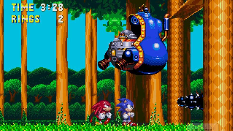Sonic The Hedgehog 3 & Knuckles trouxe uma tecnologia revolucionária na época, permitindo inserir um novo personagem no jogo — Foto: Reprodução/IGN