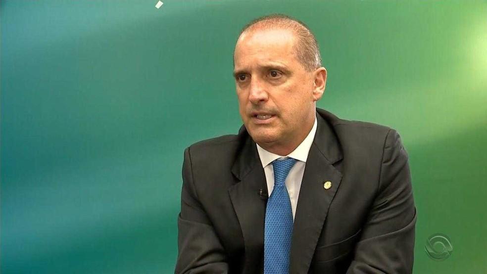 Onyx Lorenzoni será ministro-chefe da Casa Civil do governo Bolsonaro — Foto: Reprodução/RBS TV