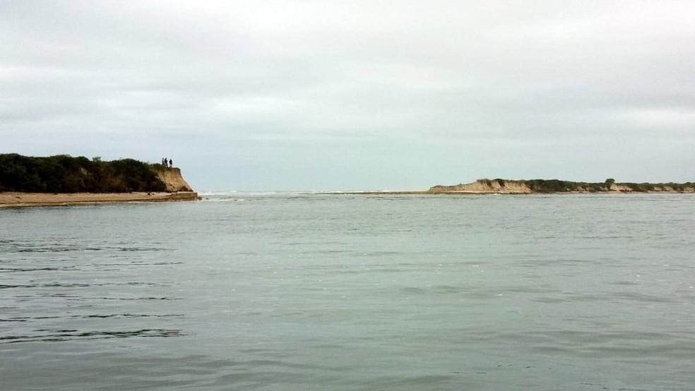 Estuário e oceano se uniram por meio de uma nova barra (Foto: Edison Nascimento/Fundação Florestal)