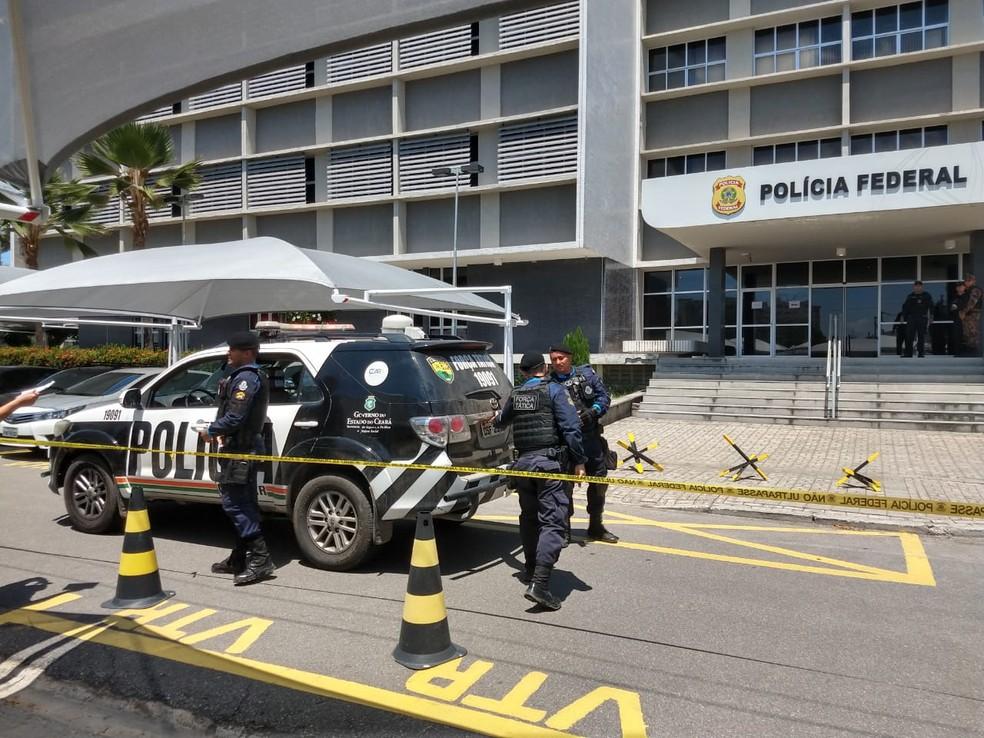 Sede da Polícia Federal no Bairro de Fátima em Fortaleza. — Foto: Messias Borges/Agência Diário