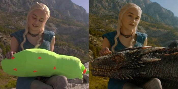 """Efeito no dragão de Khaleesi em """"Game of Thrones"""" (Foto: Divulgação)"""