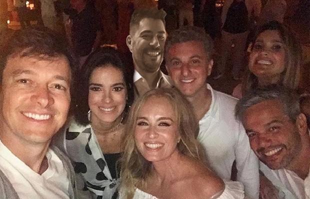 Rodrigo Faro, Vera Viel, Angélica, Luciano Huck, Otaviano Costa, Flavia Alessandra e Evaristo Costa (Foto: Reprodução / Instagram)