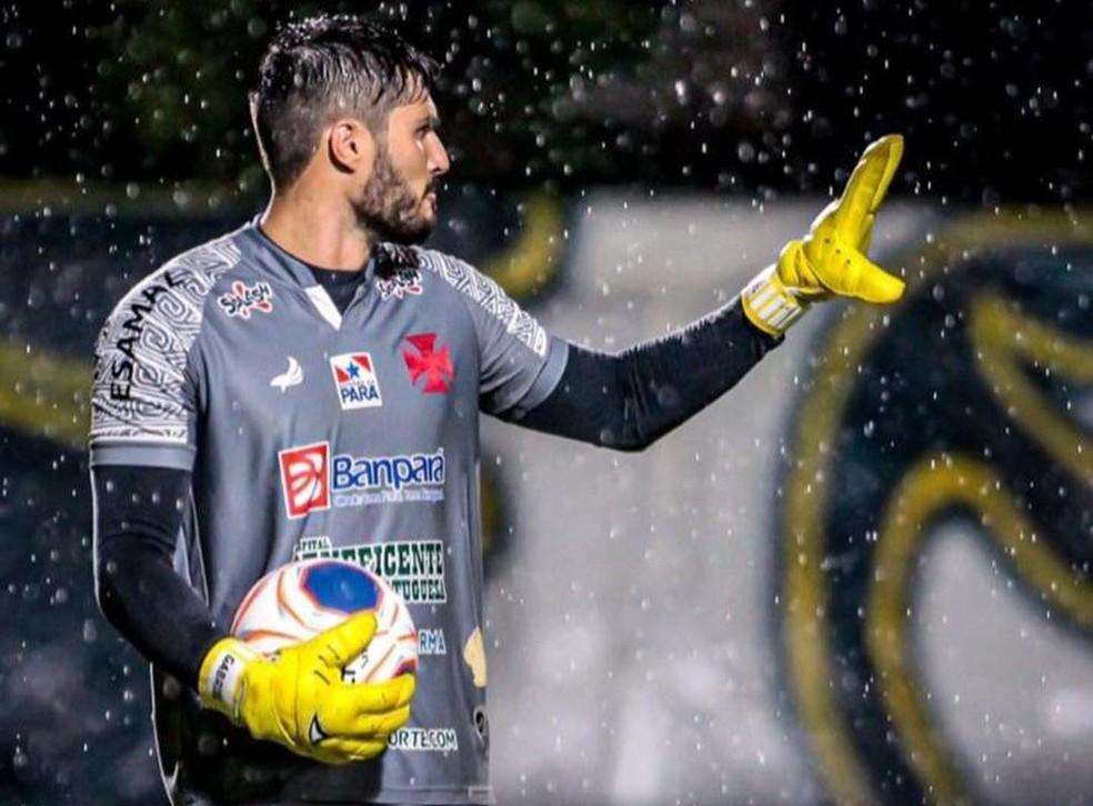 Gabriel Bubniack, goleiro da Tuna Luso — Foto: Fernando Torres