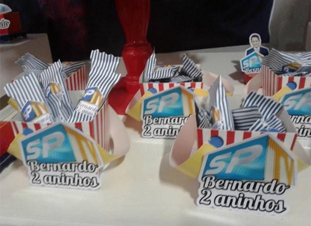Detalhes da decoração do aniversário do pequeno Bernardo (Foto: Reprodução/Twitter)