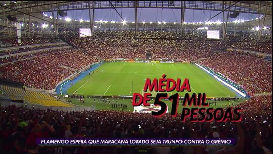 Maracanã pode ser trunfo do Flamengo contra o Grêmio na semifinal da Libertadores