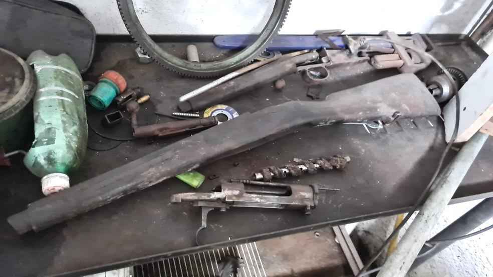 Operação da PF investiga tráfico e fabricação de armas de fogo no RN — Foto: PF/Divulgação
