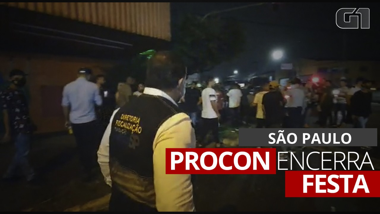 VÍDEO: Fiscais do Procon encerram festa com 500 pessoas em casa noturna de SP