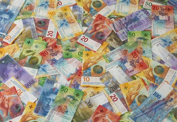 Francos suíços (Foto: Divulgação/SNB)