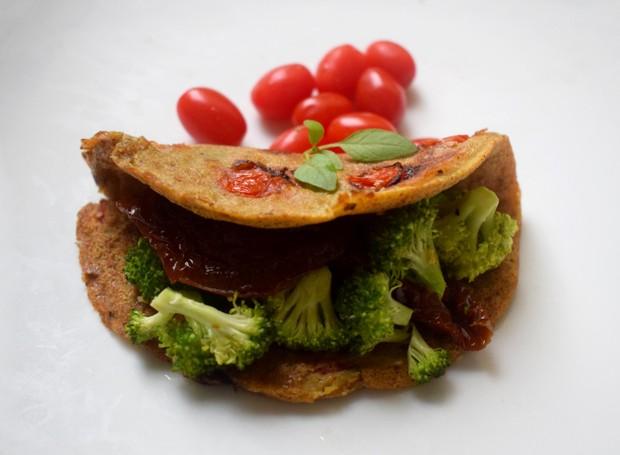 Omelete vegana (Foto: Vegana Bacana/Reprodução)