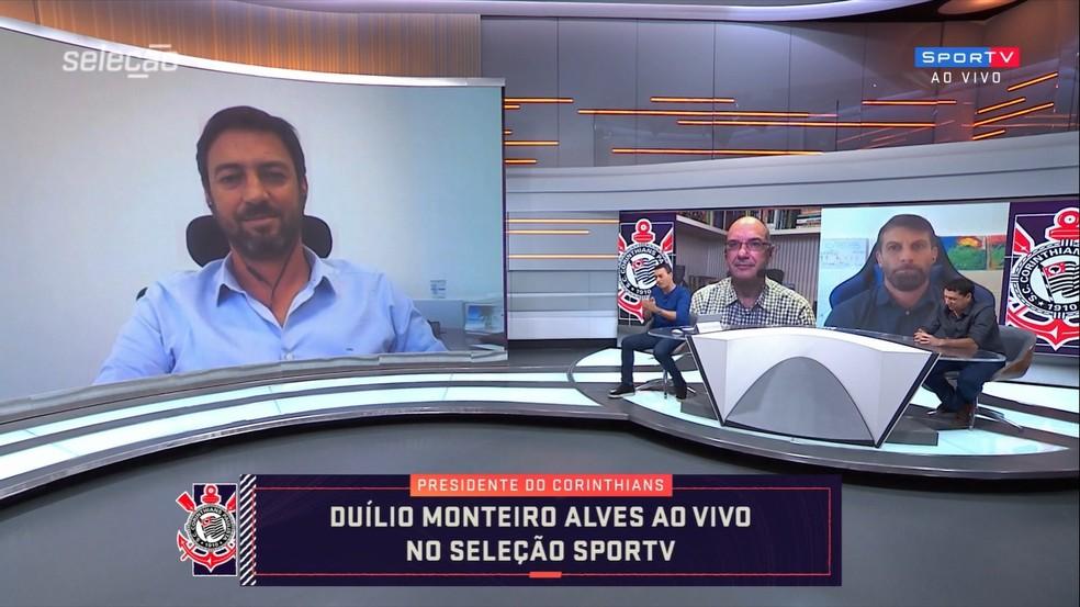 """Duilio admite temporada ruim do Corinthians, lamenta por Luan e promete: """"Vamos usar mais a base"""""""