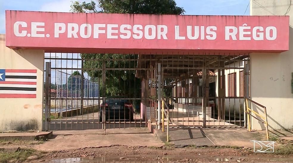 Alunos e funcionários de uma escola estadual foram assaltados na noite de quarta-feira (24).  — Foto: Reprodução/TV Mirante