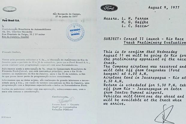 Para usar o autódromo de Jacarepaguá para o evento foi preciso pedir autorização à Confederação Brasileira de Automobilismo e mudar data de prova da F-Ford (Foto: Acervo MIAU)
