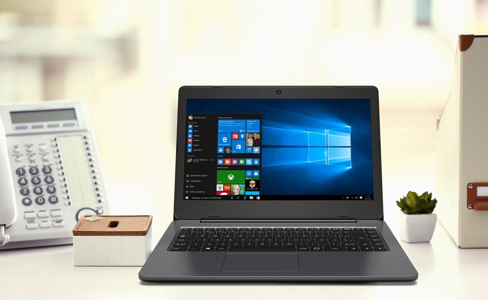 XC3650 tem tela de 14 polegadas e design simples, mas bem resolvido (Foto: Divulgação/Positivo)