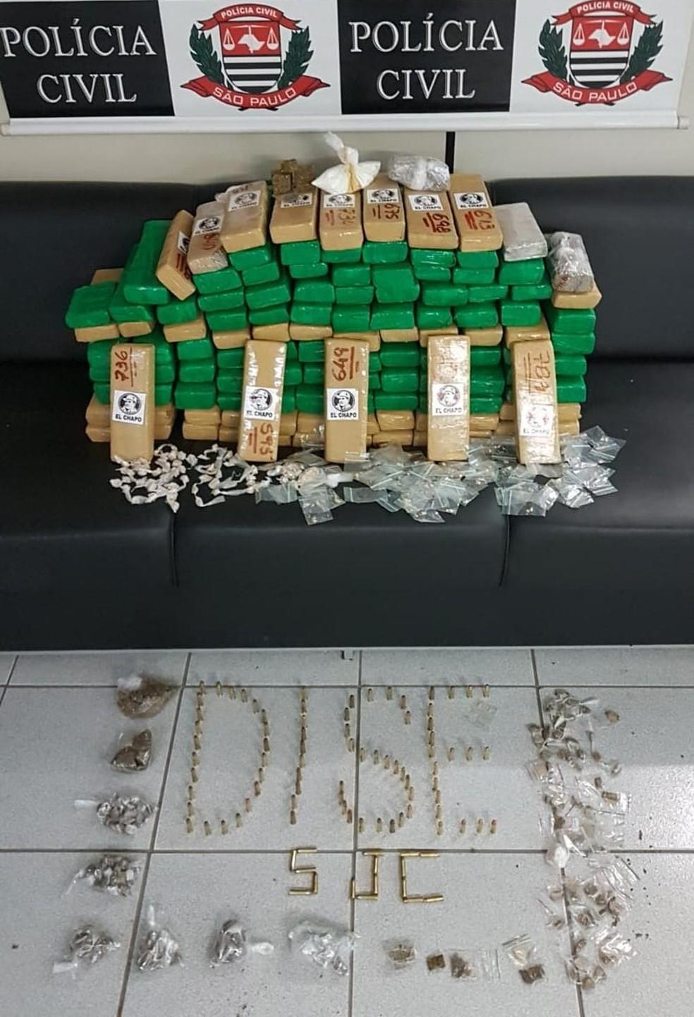 Droga foi apreendida em casa na zona leste — Foto: Divulgação/Polícia Civil