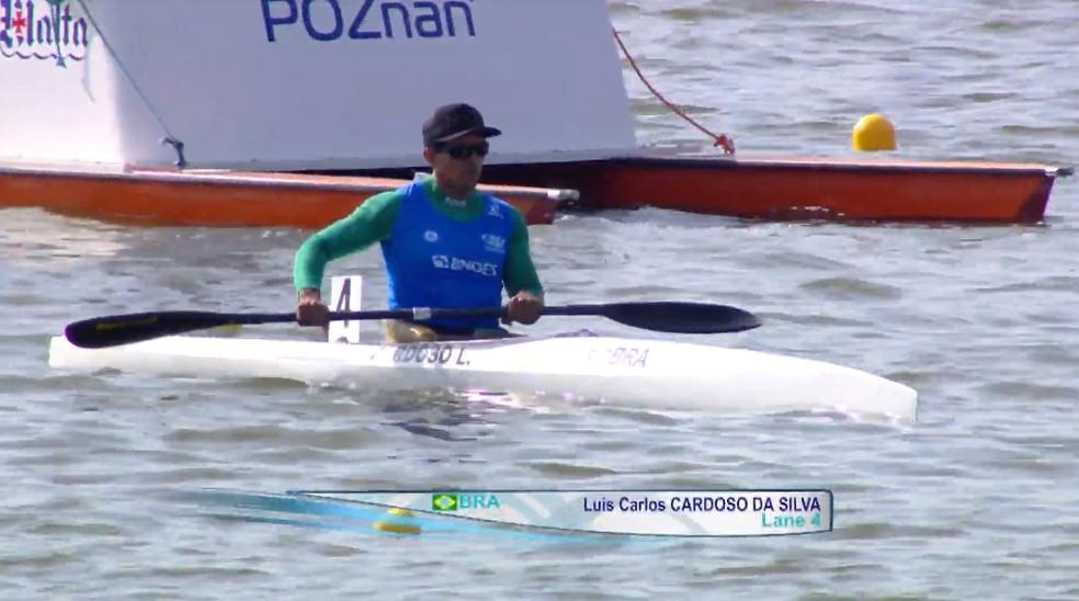 Luis Carlos Cardoso é campeão da Copa do Mundo de Paracanoagem  — Foto: Federação Internacional de Canoagem