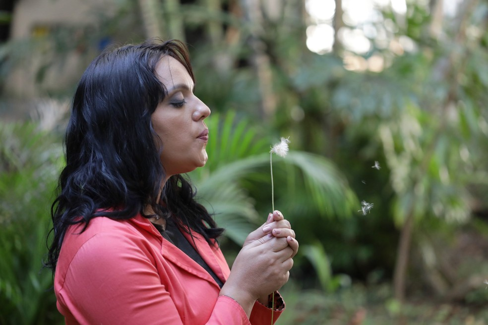 Dayane, 37 anos, vítima de violência doméstica — Foto: Mariana Raphael
