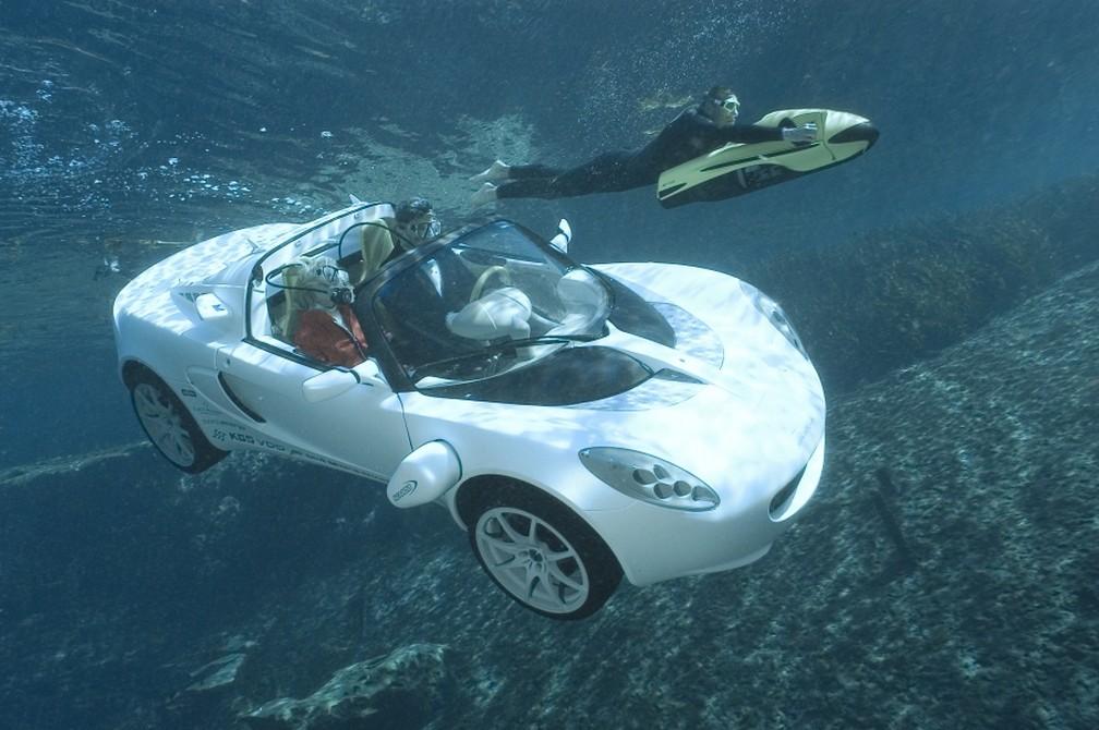 Protótipo sQuba apresentando no Salão do Automóvel de Genebra em 2008 — Foto: Rinspeed/Divulgação