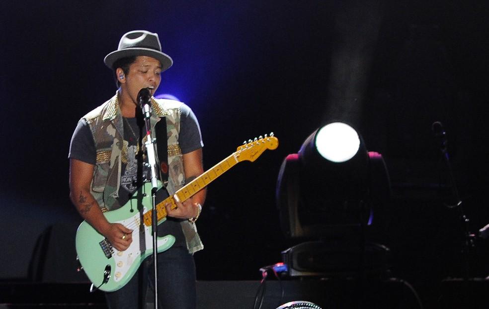 Bruno Mars em show no Summer Soul Festival, em SP, em 2012 (Foto: Flavio Moraes/G1)