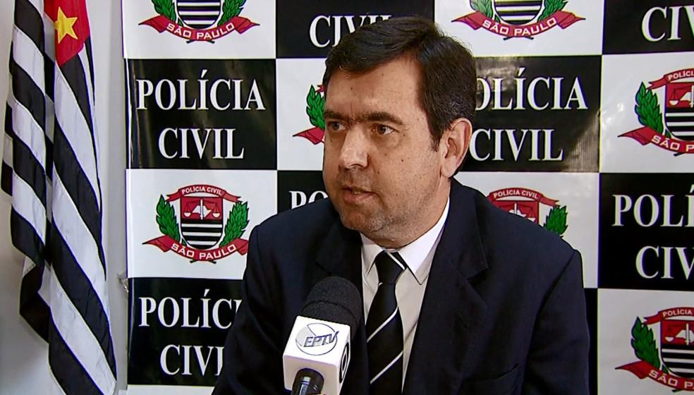 Delegado de São Carlos Maurício Dotta (Foto: Reprodução/EPTV)