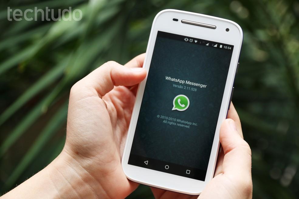 WhatsApp vai parar de funcionar em celulares com sistemas operacionais antigos — Foto: Anna Kellen Bull/TechTudo