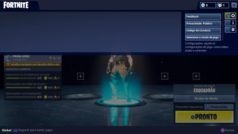 Fortnite: como jogar usando mouse e teclado no PS4 e Xbox